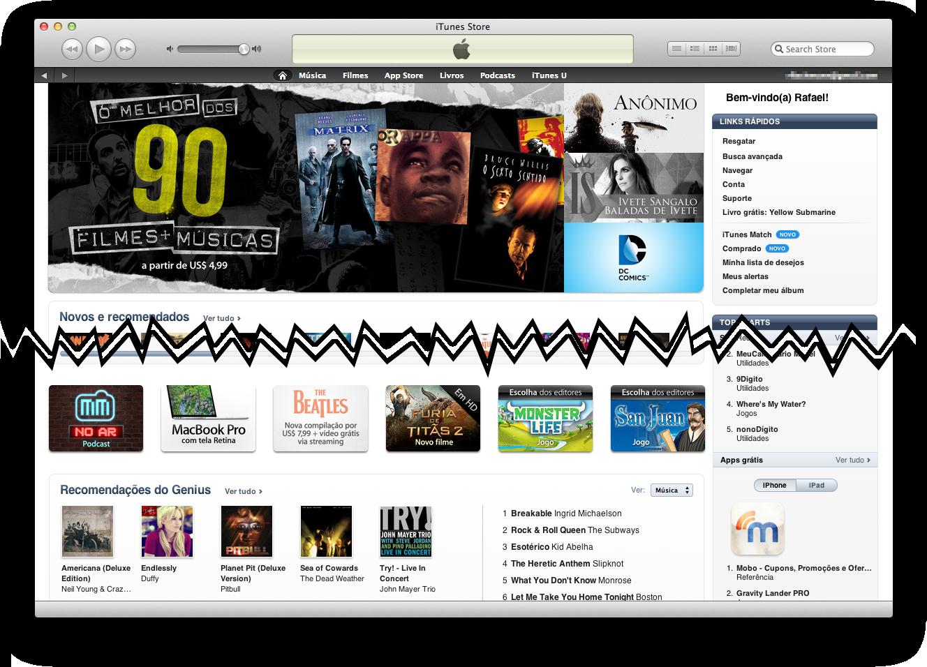 MacMagazine no Ar na home da iTunes Store brasileira