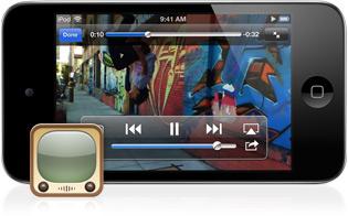 YouTube rodando em iPod touch