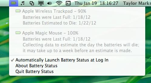 Battery Status - Mac