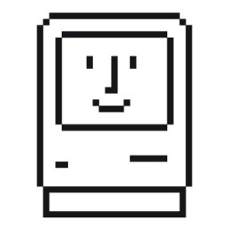 Ícone - Happy Mac por Susan Kare