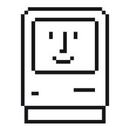 Ícone - Happy Mac por Susan Kare