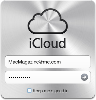 Janela de login do iCloud