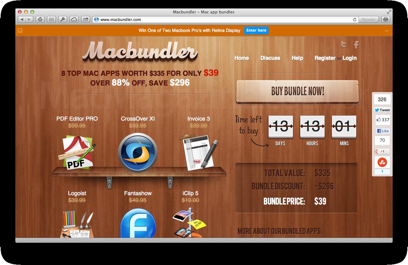 Site do pacote Macbundler
