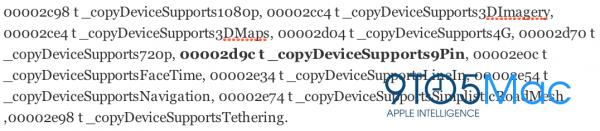 Referência sobre 9 pinos no iOS 6 beta