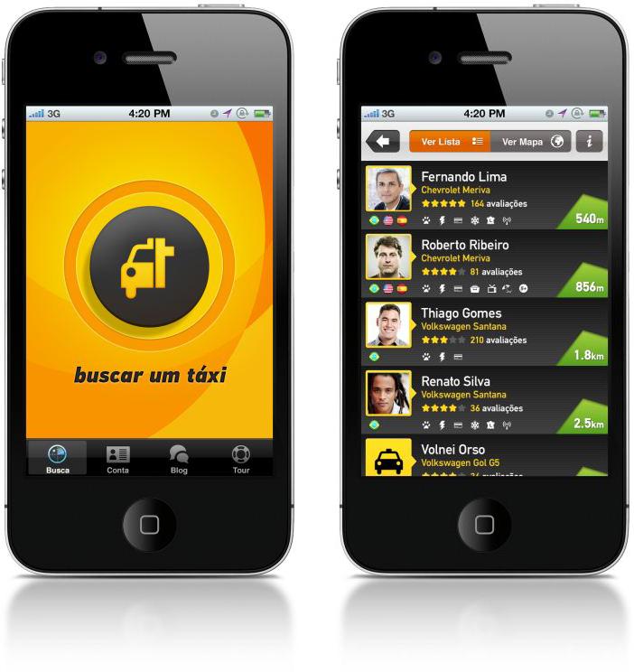 Taxibeat em iPhones