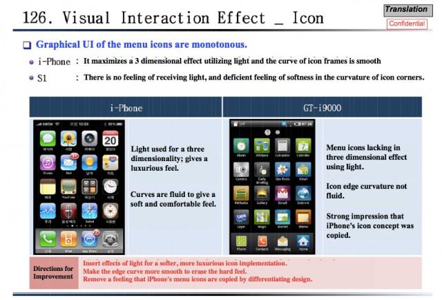 Parte do relatório de análise do iOS