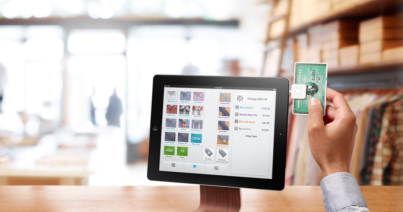 Square em iPad numa loja