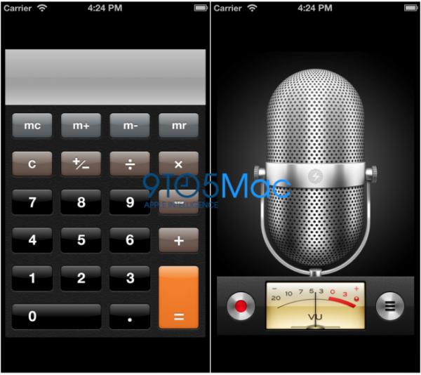 Apps nativos rodando do iPhone rodando numa tela de 4 polegadas