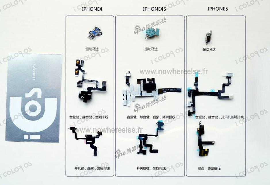 Comparativo de peças de iPhones