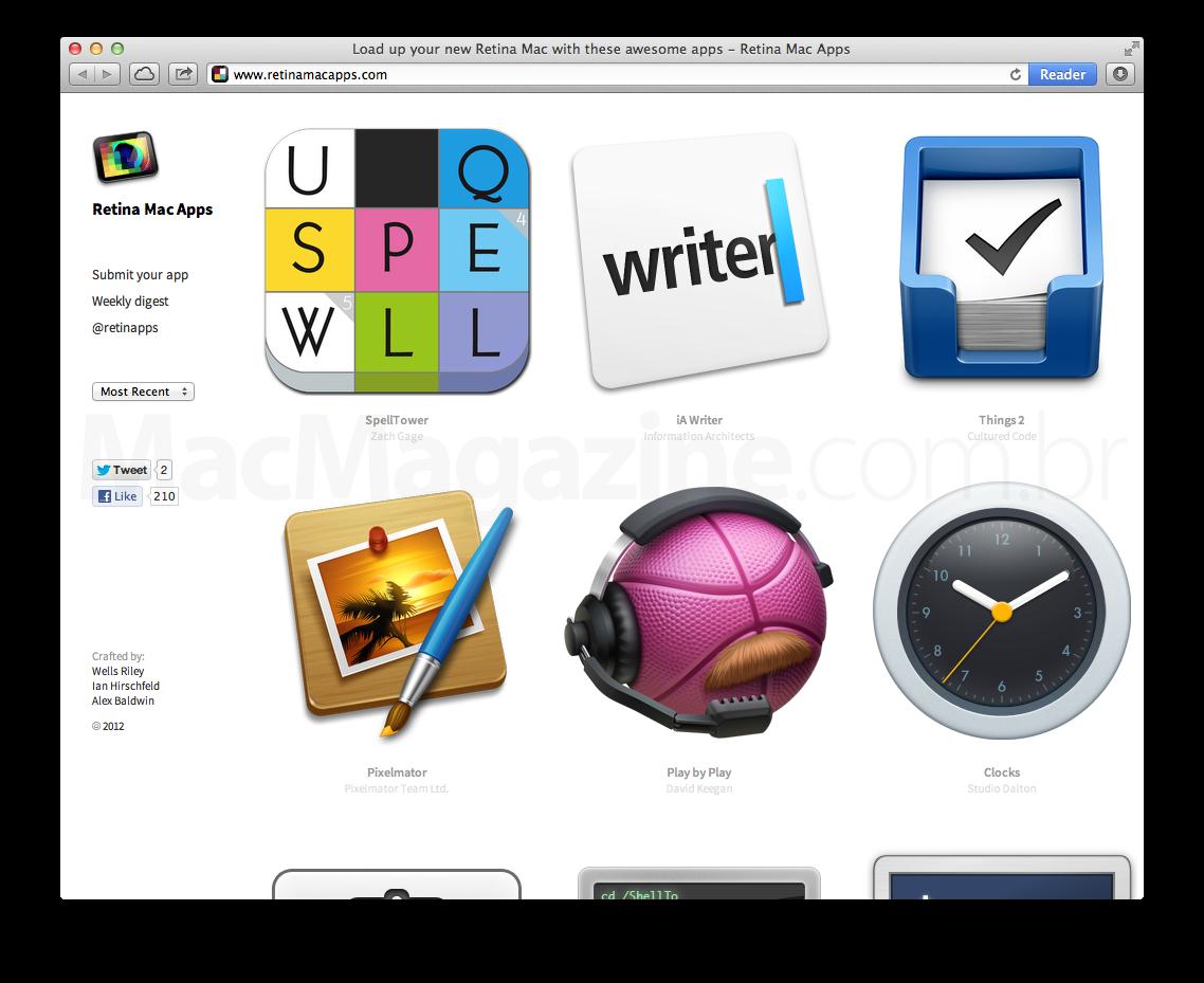 Site Retina Mac Apps
