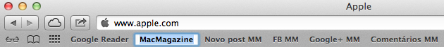 Editando um bookmark no Safari 6