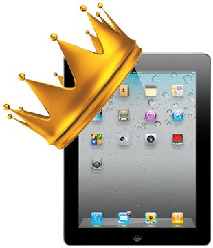 iPad com uma coroa de rei