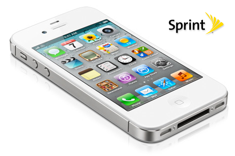iPhone 4S branco da Sprint