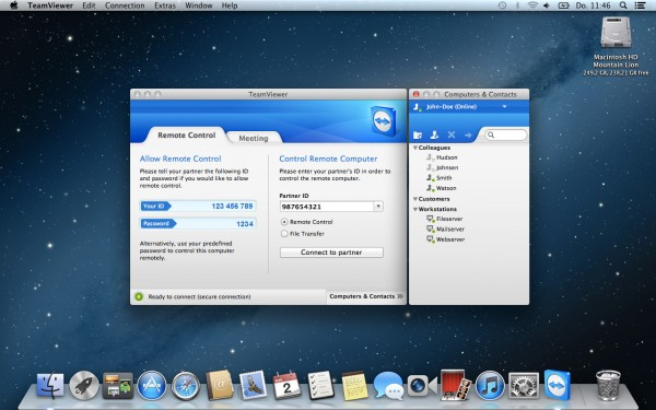 TeamViewer rodando no Mountain Lion