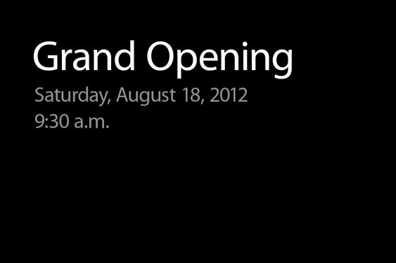 Aviso de abertura de lojas