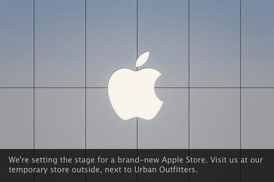 Aviso de obra da Apple Store, Christiana Mall