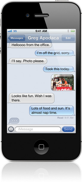 iMessage no iPhone 4S