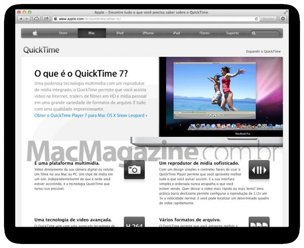 Página do QuickTime