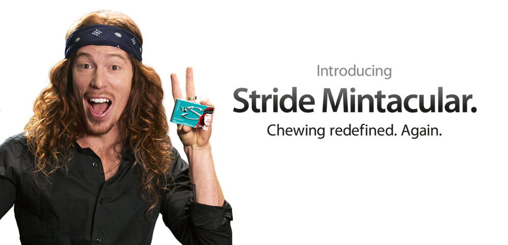 Stride Mintacular - paródia da Apple