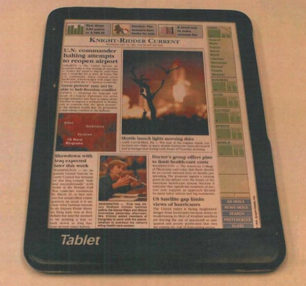 Conceito de tablet Fidler