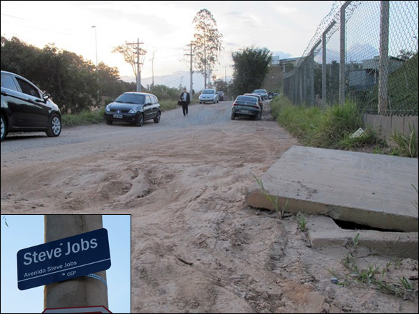 Situação da Avenida Steve Jobs, em Jundiaí