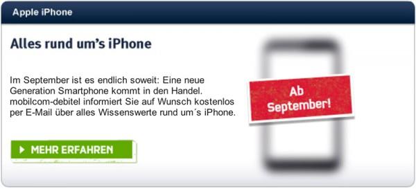 Operadora alemã sobre novo iPhone