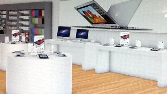 Espaço dedicado a iPads em Apple Premium Reseller