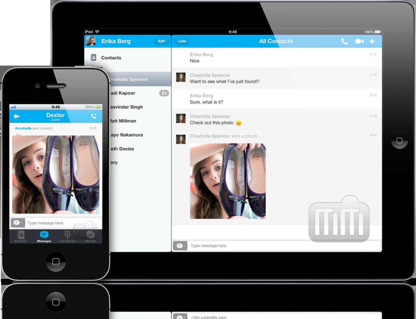 Compartilhamento de fotos no Skype para iOS