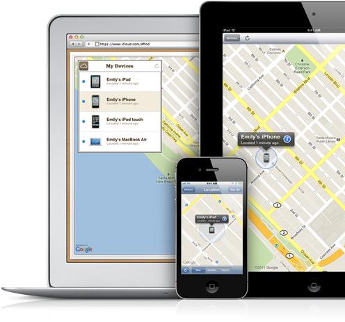 Buscar iPhone, iPad e Mac