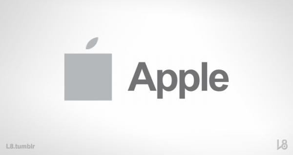 Logo da Apple estilizado como o da Microsoft - L8