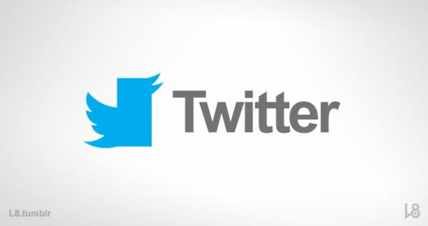 Logo do Twitter estilizado como o da Microsoft - L8