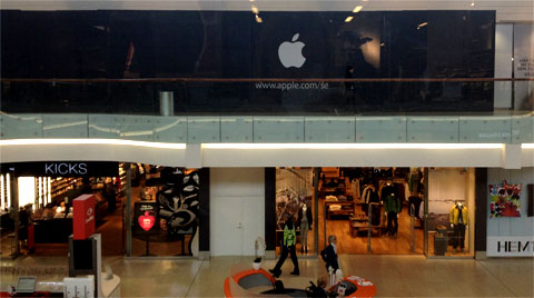Primeira loja da Apple na Suécia