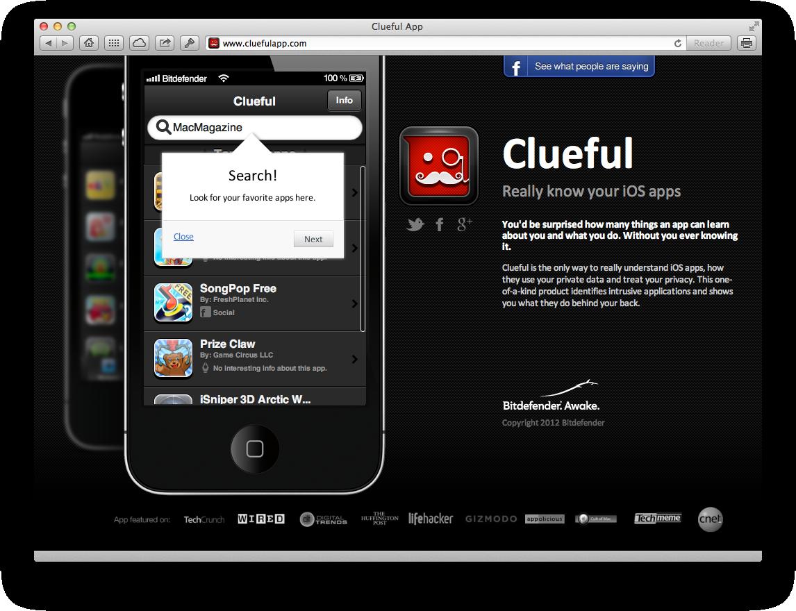 Clueful, agora em web app