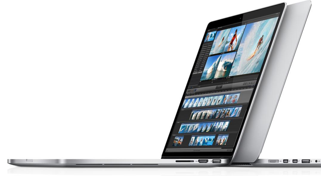 MacBooks Pro com tela Retina - um de costas para o outro