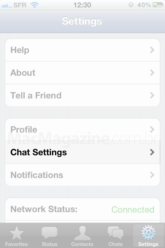 Ajustes - WhatsApp