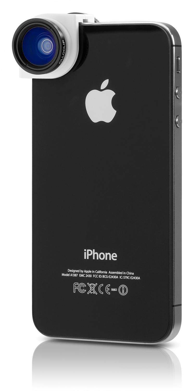 Olloclip branca num iPhone