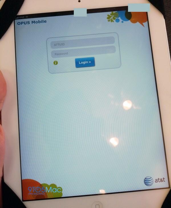 OPUS da AT&T num iPad
