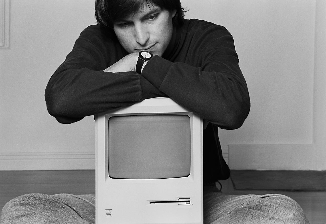Steve Jobs bem jovem, por Norman Seeff