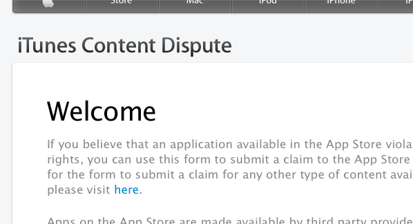 iTunes Content Dispute