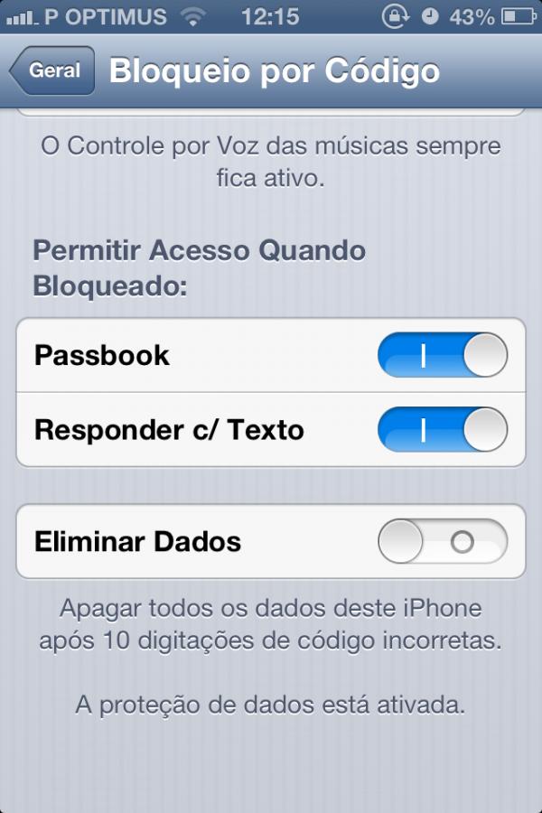 Acesso ao Passbook mesmo com a tela do aparelho bloqueada