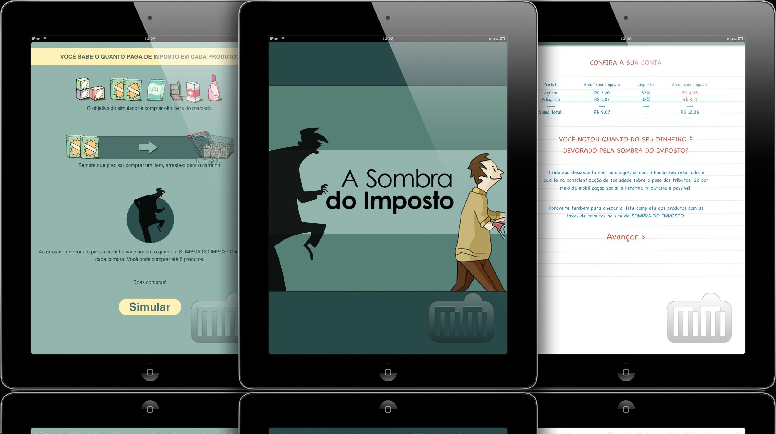 Sombra do Imposto - iPads