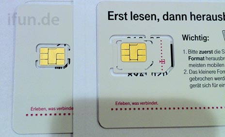 Cartão Nano-SIM da Deutsche Telekom