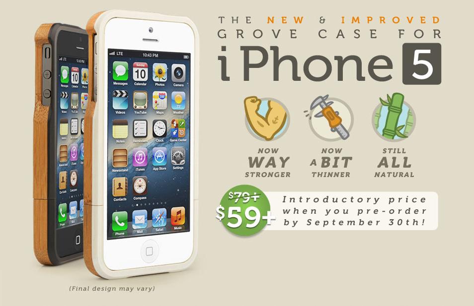 Cases da Grove para iPhone 5