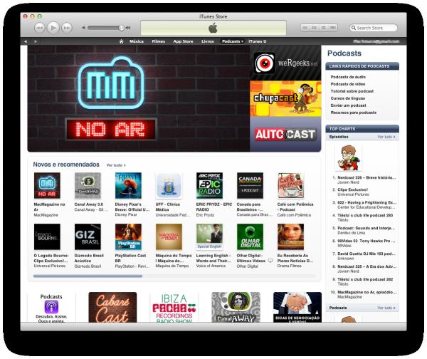 MacMagazine no Ar em destaque na iTunes Store