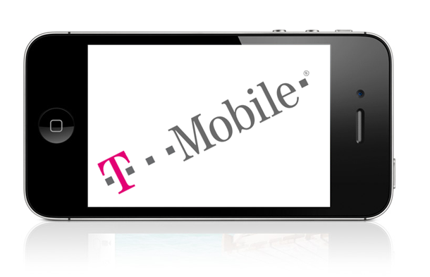 Logo da T-Mobile em iPhone 4S