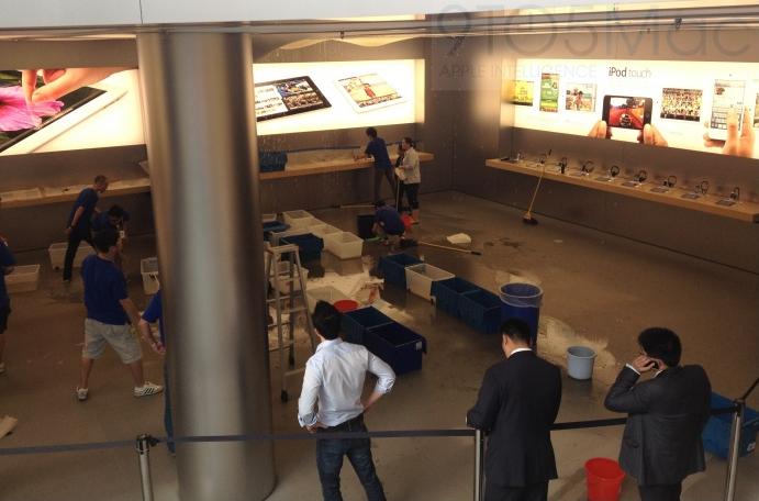 Inundação na Apple Store, Pudong