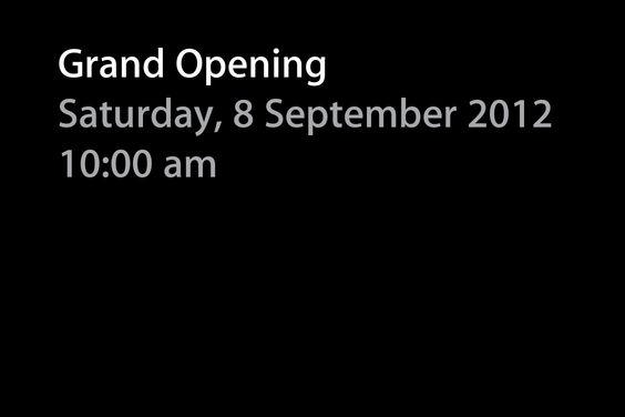 Inauguração de Apple Store (8/9, às 10h)