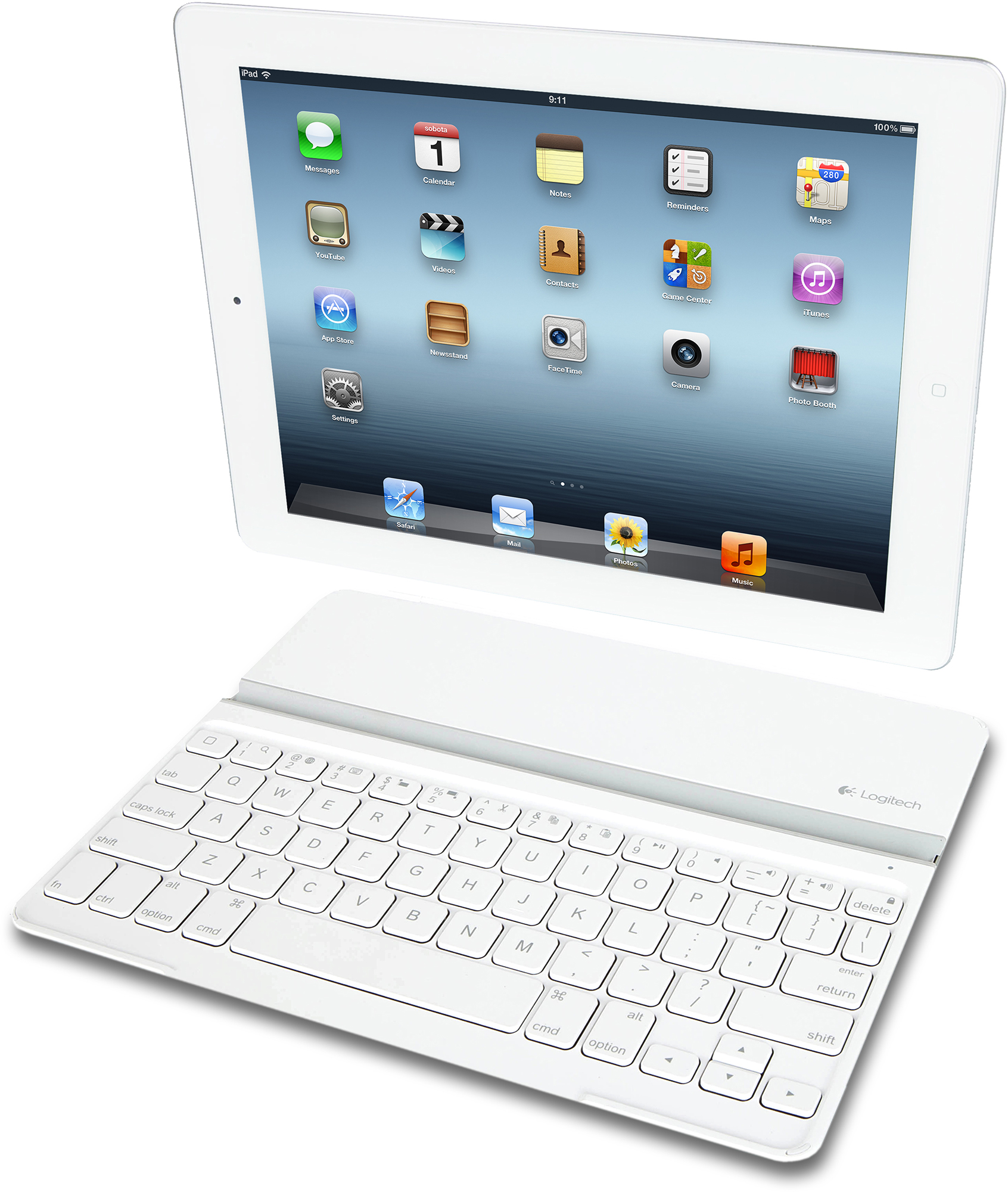 Logitech Ultrathin Keyboard Cover branco com iPad