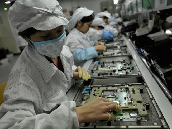 Trabalhadores na Foxconn
