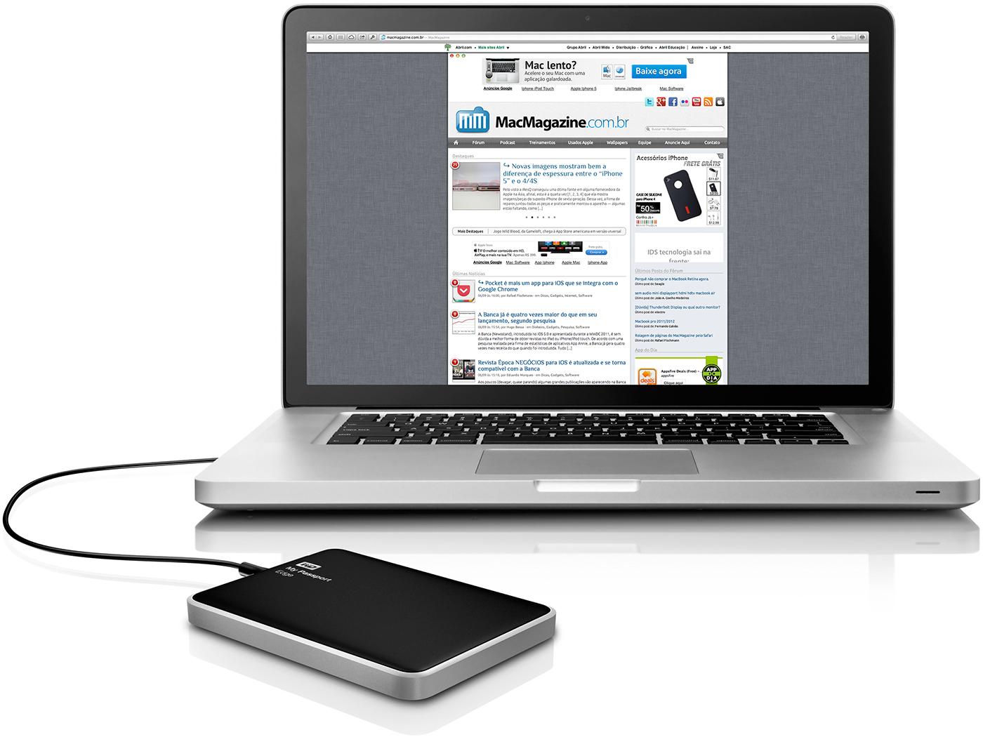 WD My Passport Edge com MacBook Pro